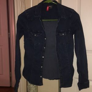 h&m divided denim jacket